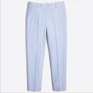 J. Crew City Fit Skimmer cropped/ankle work pants